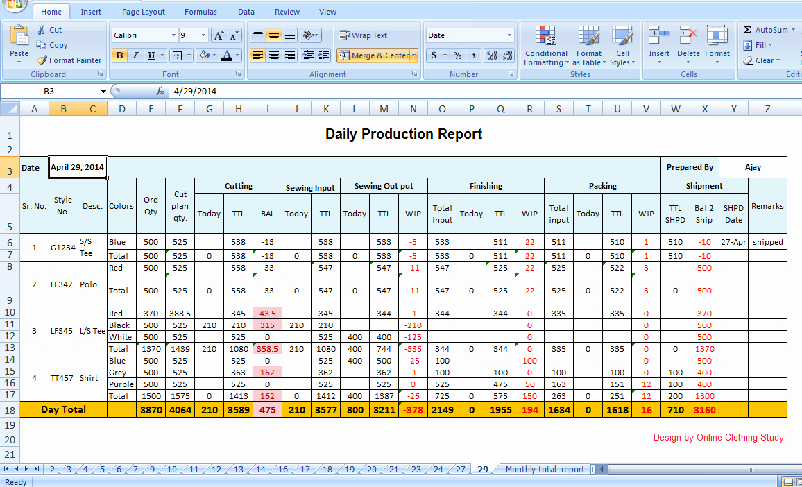 Daily Production Report Template Excel New Tips to Make Daily Production Report Quickly