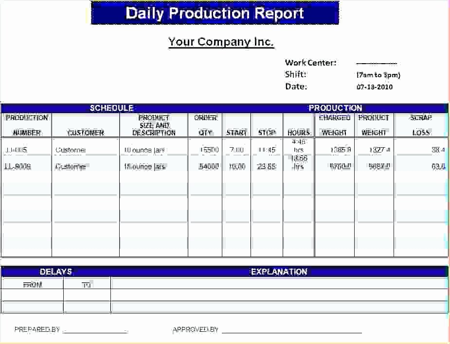 Daily Report Template Excel Inspirational Construction Daily Report Template Cool Progress format