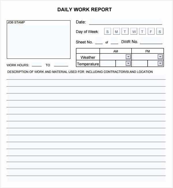 Daily Report Template Excel Lovely 10 Daily Report Templates Word Excel Pdf formats