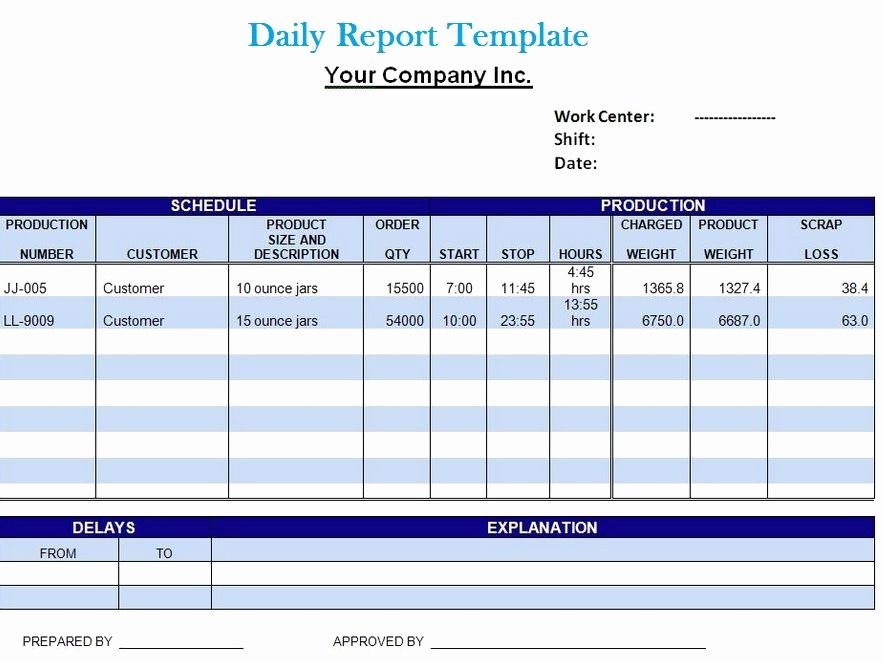 Daily Report Template Excel Luxury Get Project Daily Report Template