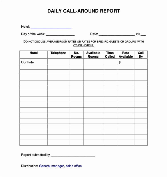 Daily Sales Report Template Elegant 64 Daily Report Templates Pdf Docs Excel