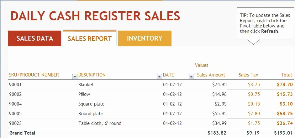 Daily Sales Report Template Elegant Ms Excel Daily Sales Report Template
