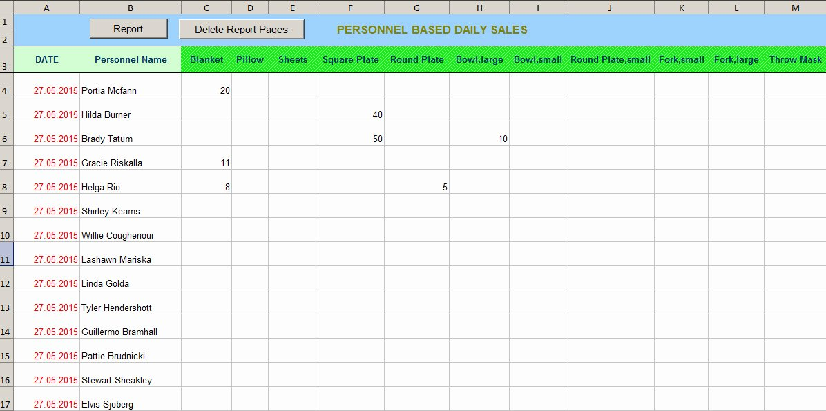Daily Sales Report Template Lovely Daily Sales Report with Excel Vba Hints and Tips About