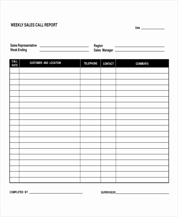 Daily Sales Report Template New 5 Daily Call Report Templates 6 Free Word Pdf format