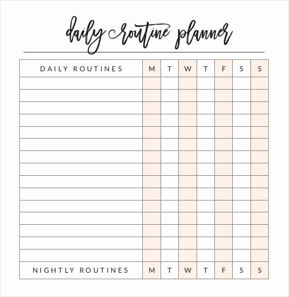 Daily Schedule Template Pdf Beautiful 29 Daily Planner Templates Pdf Doc