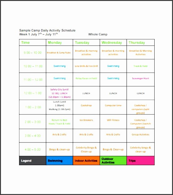Daily Schedule Template Pdf Fresh 6 Daily Schedule Sample Sampletemplatess Sampletemplatess