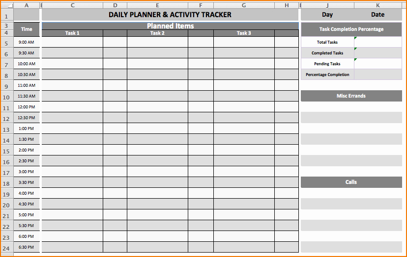 Daily Task List Template Beautiful 6 Daily Task List Template