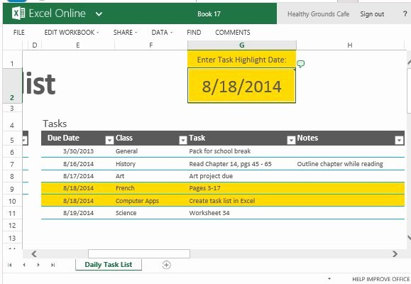 Daily Task List Template Lovely Daily Task List Template for Excel