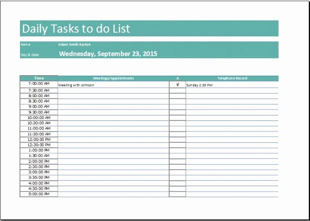 Daily Task List Template Word Fresh 1000 Ideas About Checklist Template On Pinterest