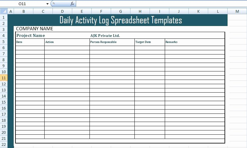 Daily Time Tracking Template Awesome Get Daily Activity Log Spreadsheet Templates Free Excel
