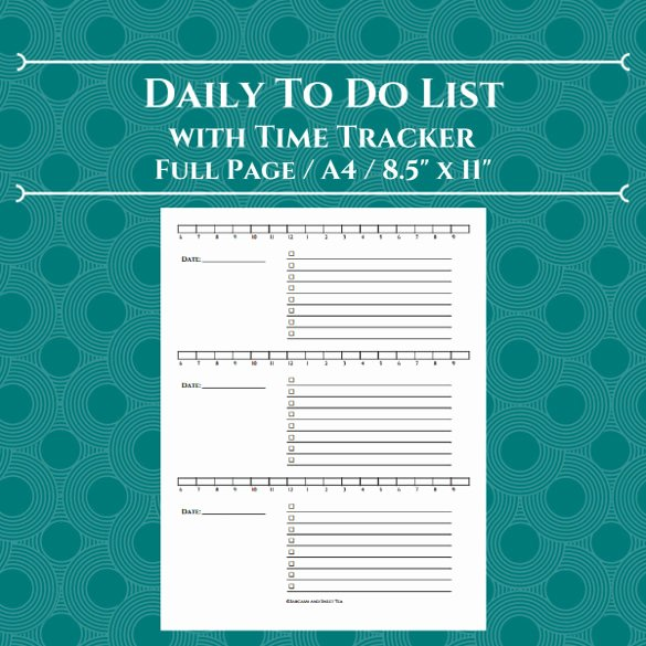 Daily Time Tracking Template Best Of 12 Time Tracking Sample Templates Free Word Excel Pdf