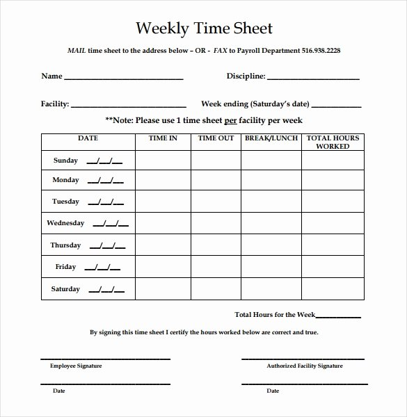 Daily Timesheet Excel Template Luxury 31 Simple Timesheet Templates Doc Pdf