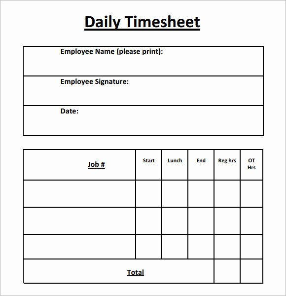 Daily Timesheet Excel Template Luxury Daily Timesheet Template 15 Free Download for Pdf Excel