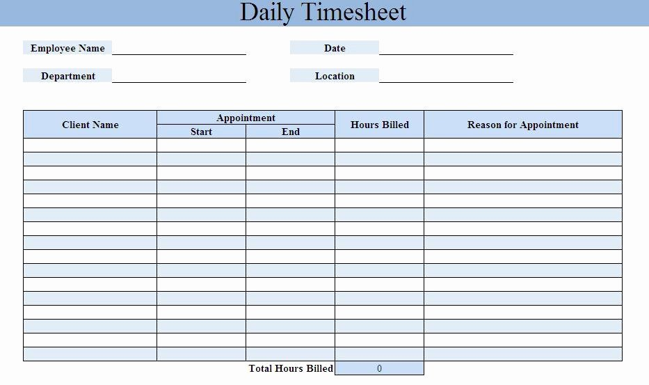 Daily Timesheet Excel Template Luxury Free Timesheet Calculator Excel Word Pdf Template