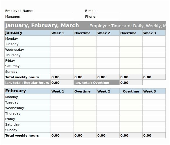 Daily Timesheet Excel Template New 25 Excel Timesheet Templates – Free Sample Example