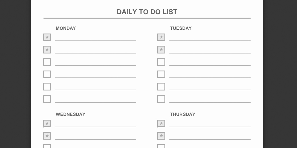 Daily to Do List Template Beautiful Every to Do List Template You Need the 21 Best Templates