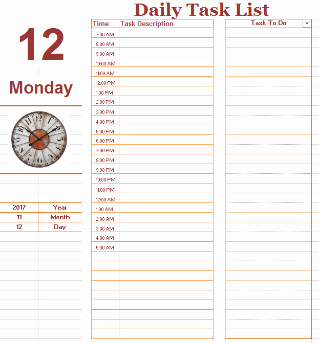 Daily to Do List Template Best Of Daily to Do List Template