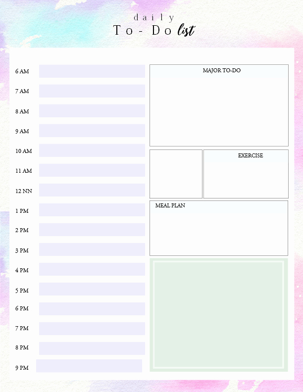 Daily to Do List Template Best Of Printable Daily to Do List Template to Get Things Done