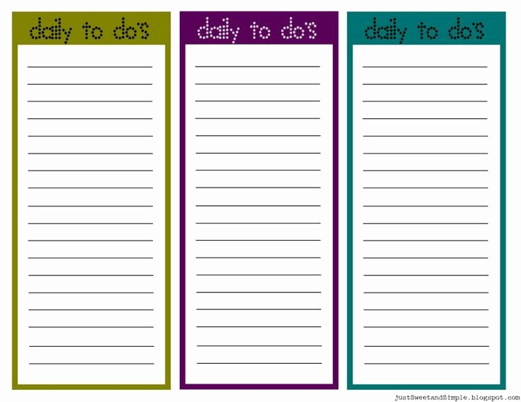 Daily to Do List Template Best Of Printable Task List