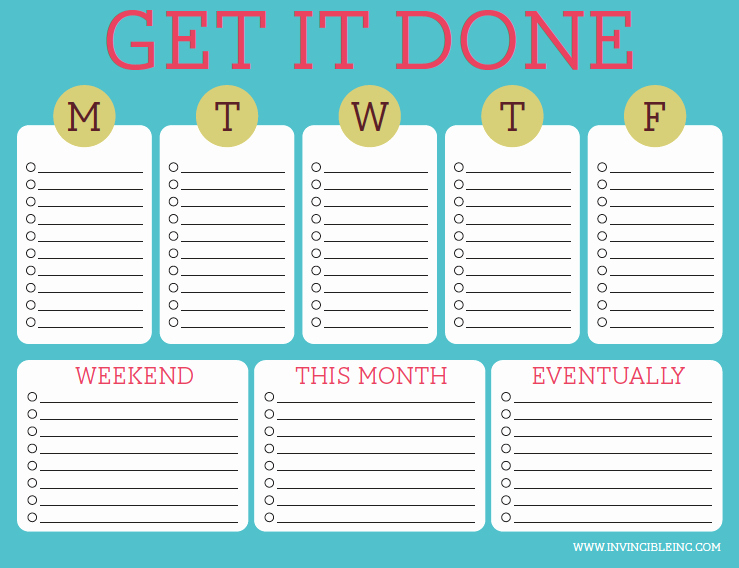 Daily to Do List Template Inspirational organization and Time Management Part 2 Make A to Do List