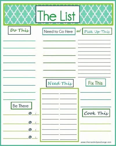Daily to Do List Template Lovely 7 Best Of Daily Printable Weekly to Do List Free