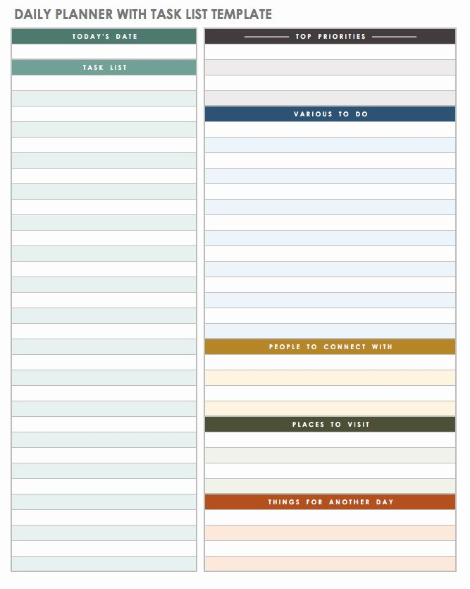 Daily to Do List Template New 5 Daily to Do List Printable Templates 2019