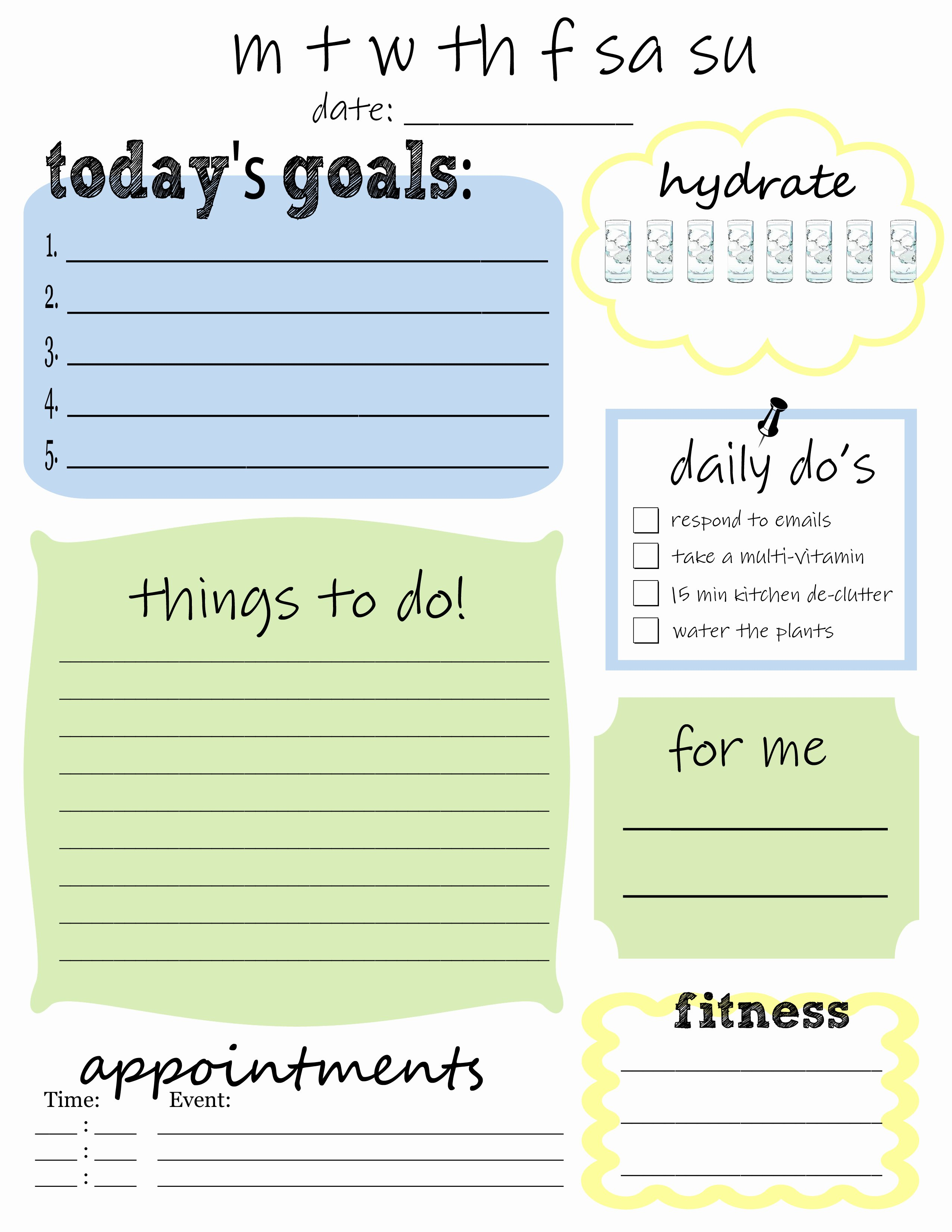 Daily to Do List Template Unique 25 Printables for organizing Life after Laundry