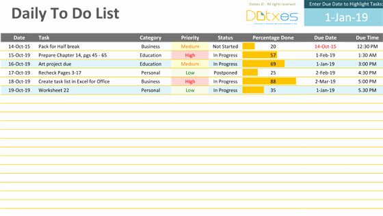 Daily todo List Template Best Of Dotxes Every Template is Awesome and Every Docx is Cool
