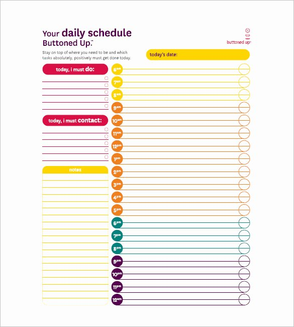 Daily todo List Template Lovely Daily Task List Templates 8 Free Sample Example