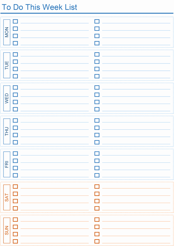 Daily todo List Template Lovely Daily to Do List Templates for Excel