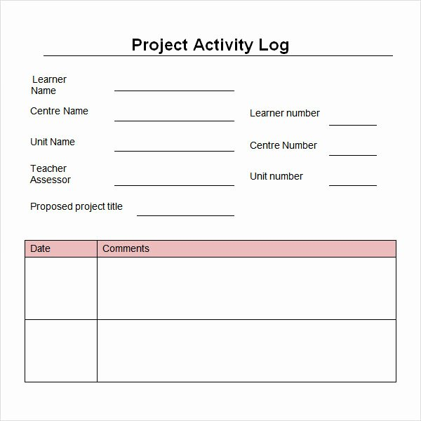 Daily Work Log Template Awesome Work Log Template 5 Free Pdf Doc Download