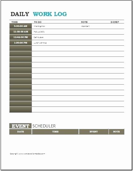 Daily Work Log Template Luxury Construction Daily Report Template Excel Project Log