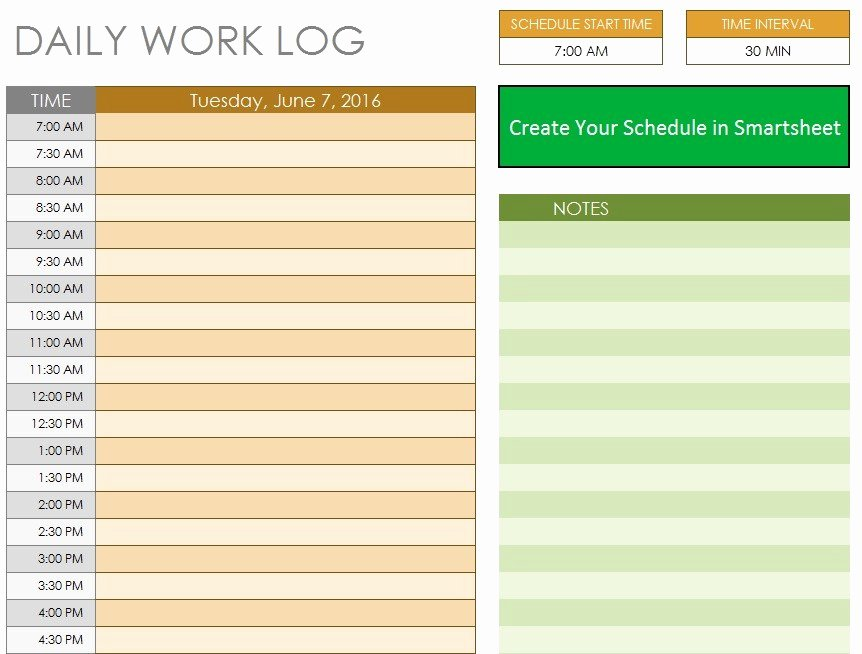 Daily Work Log Template New 10 Free Sample Daily Log Templates Printable Samples