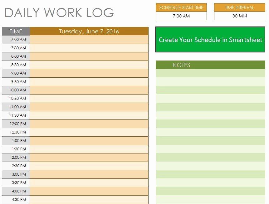 Daily Work Log Template New 10 Free Sample Daily Log Templates Printable Samples