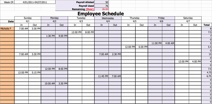 Daily Work Schedule Template Awesome 9 Daily Work Schedule Templates Excel Templates