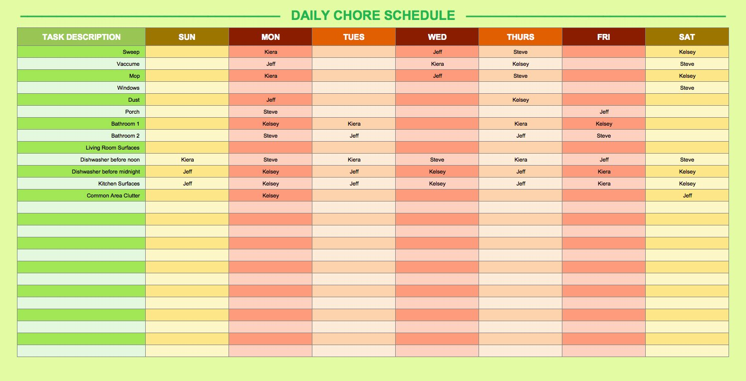 Daily Work Schedule Template Elegant Daily Work Schedule Template Excel – Heegan Times