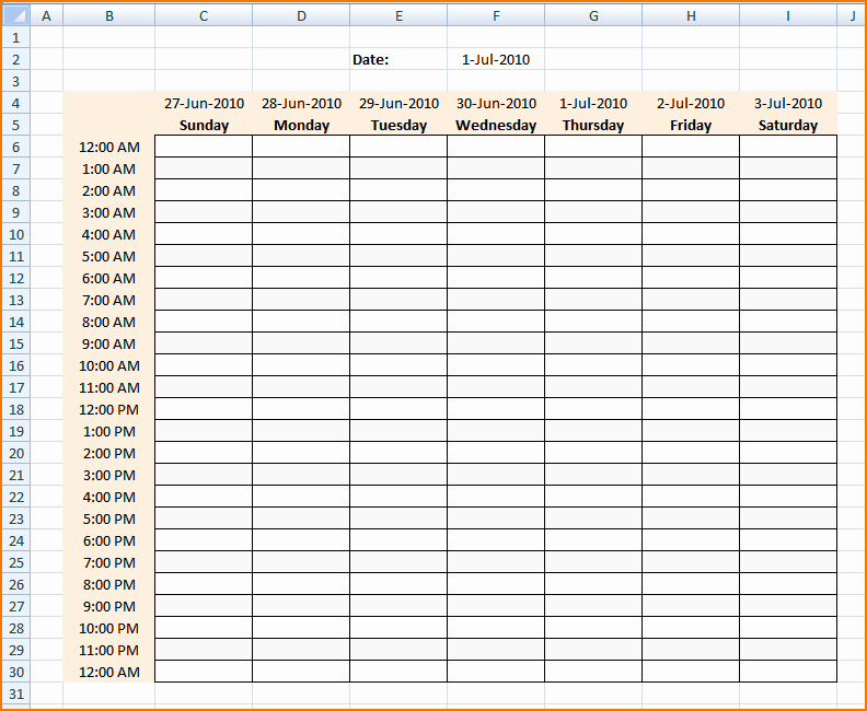 Daily Work Schedule Template Elegant Week Schedule Maker