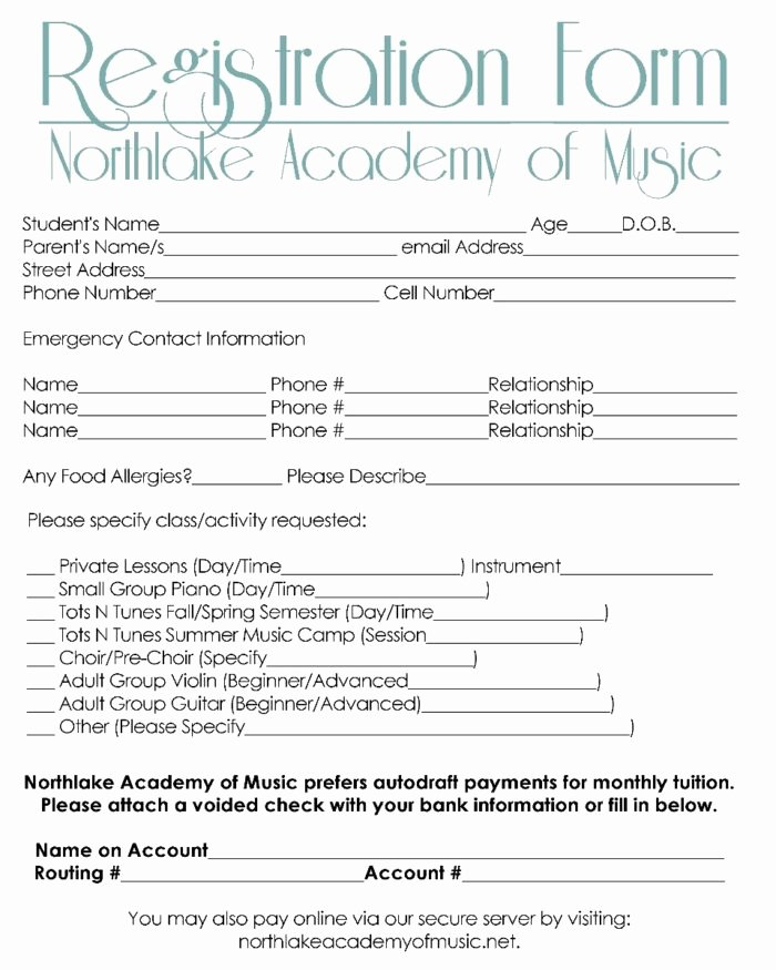 Dance Registration form Template Awesome 5k Registration form Template Free Templates Resume