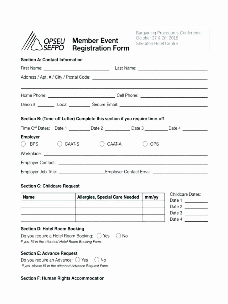 Dance Registration form Template Fresh Dance School Registration form Template event Booking Word