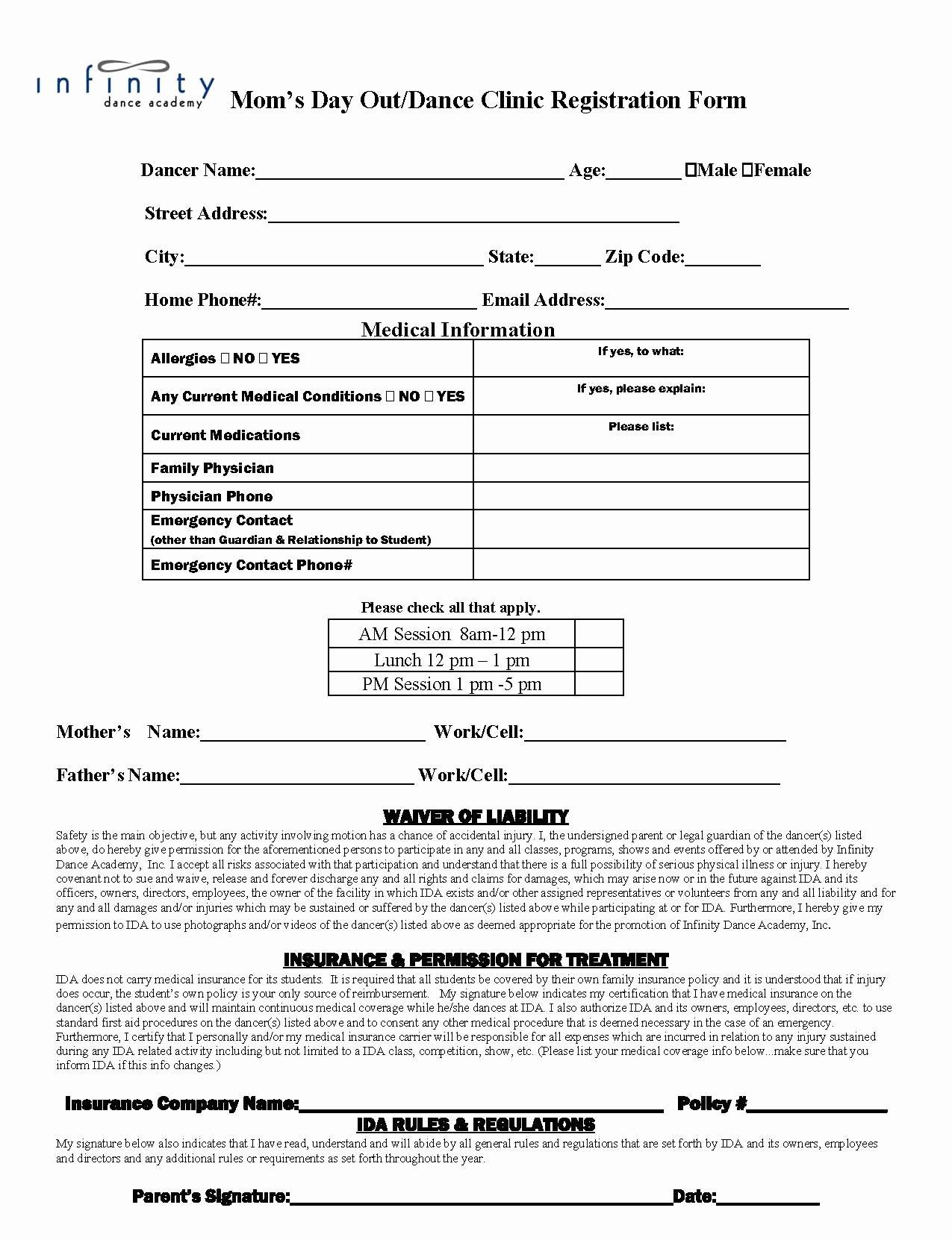 Dance Registration form Template New Dance School Wallpapers 51 Wallpapers – Wallpapers for