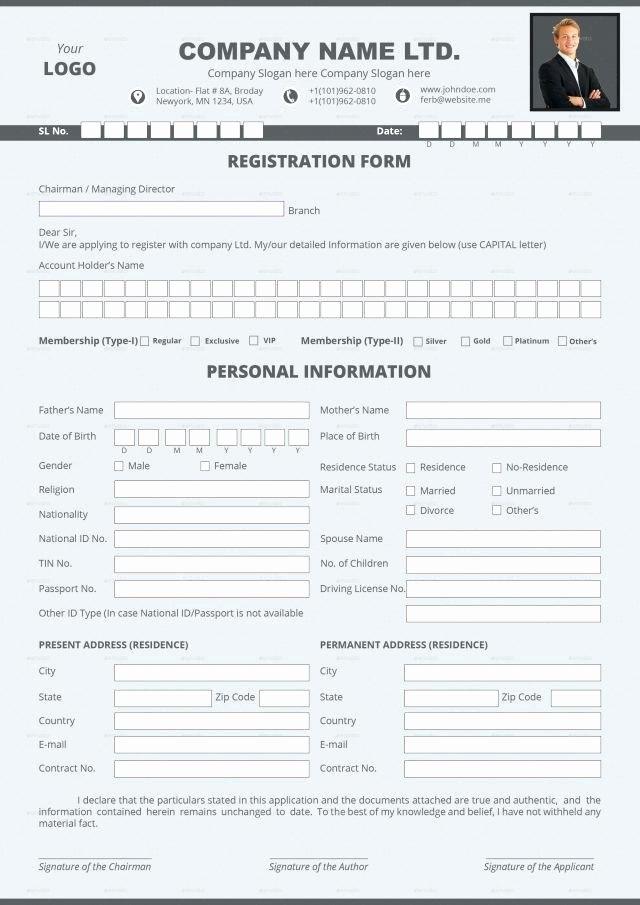 Dance Registration form Template Unique This Vendor Application form Template Includes Basic