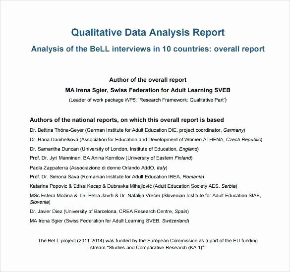 Data Analysis Report Template Awesome Data Analysis Report Template