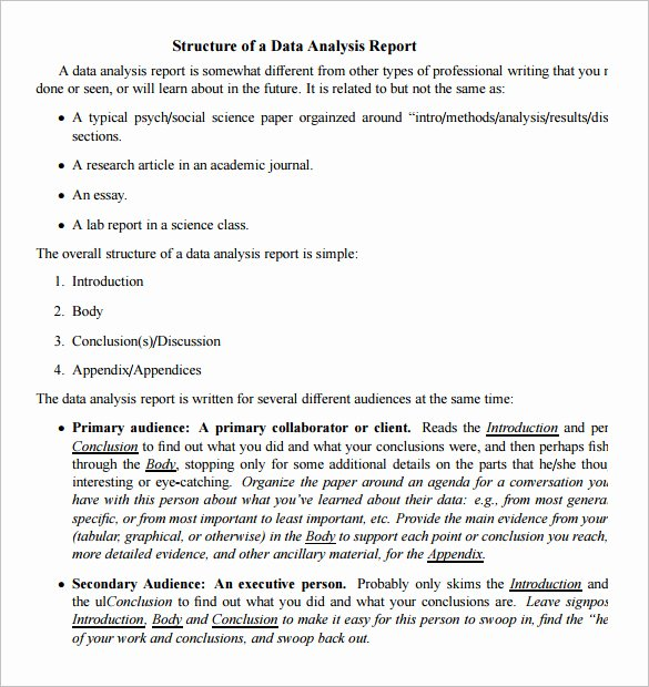 Data Analysis Report Template Awesome Data Analysis Report Templates Pdf Word Pages