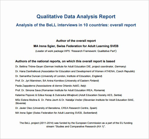 Data Analysis Report Template Elegant 16 Analysis Templates Doc Pdf Excel