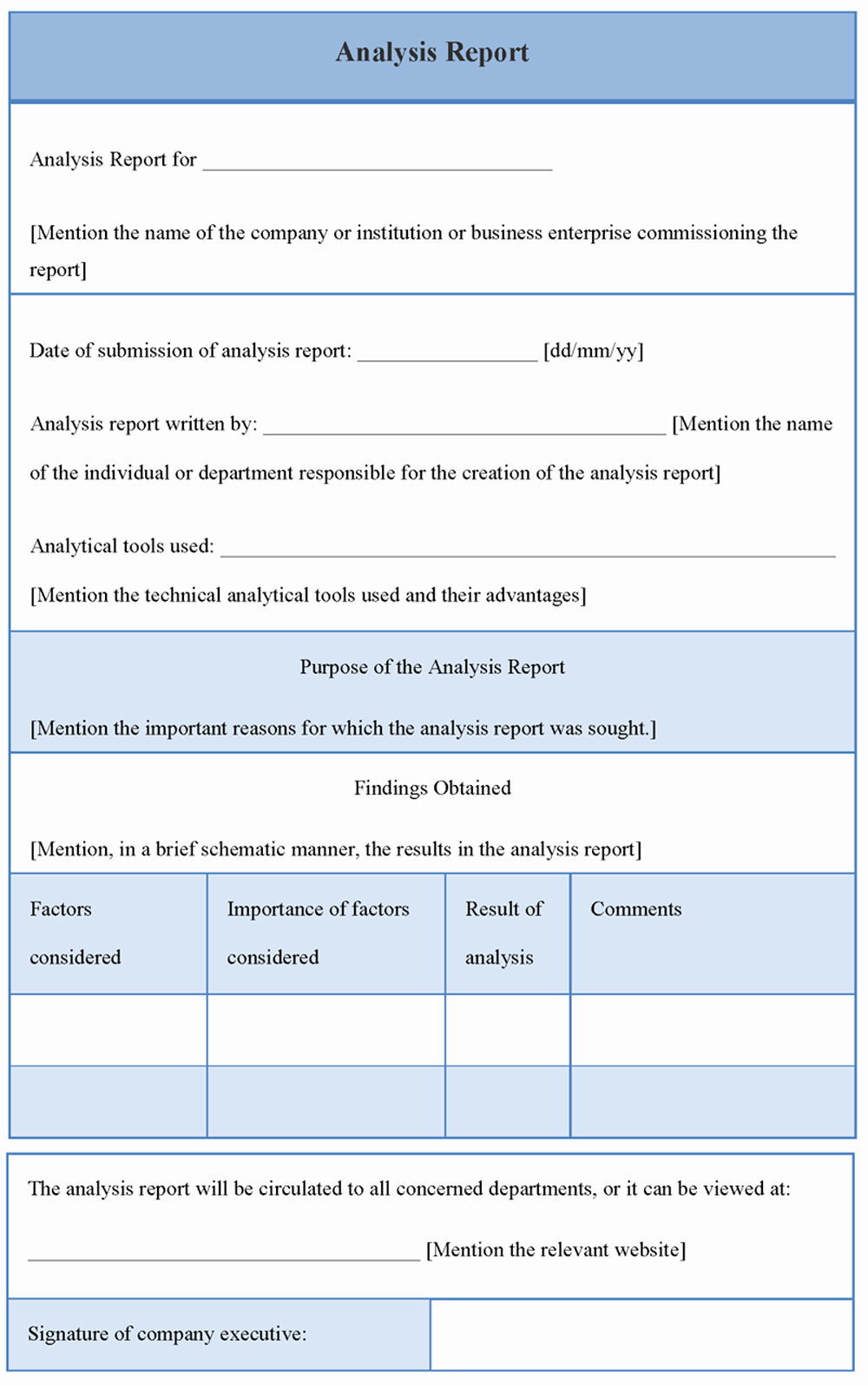 Data Analysis Report Template Inspirational High Quality Blank Data Analysis Report Template and form