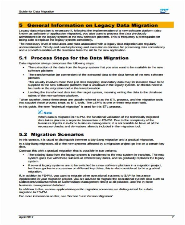 Data Migration Plan Template Beautiful 4 Migration Project Plan Templates Pdf