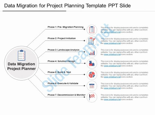Data Migration Plan Template Beautiful Style Linear 1 Many 7 Piece Powerpoint