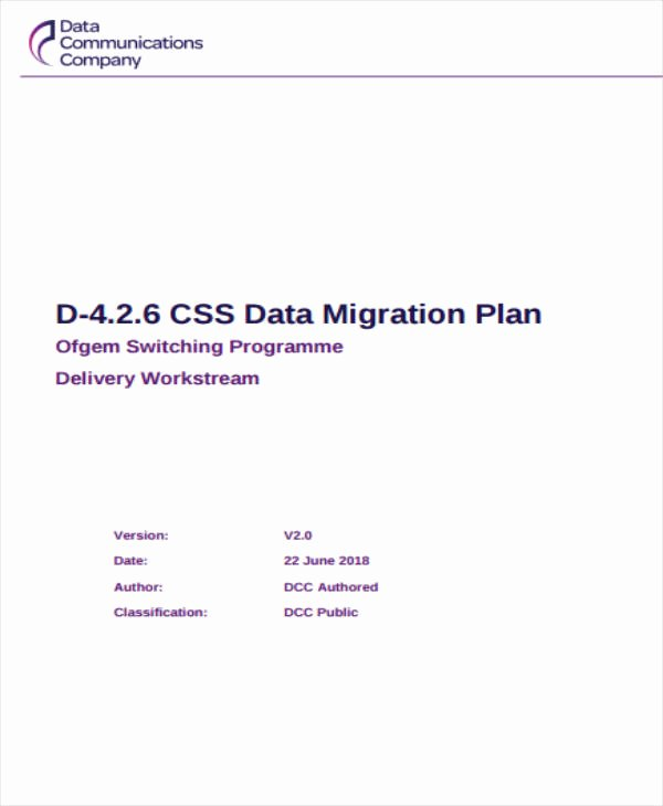 Data Migration Plan Template Luxury 4 Migration Project Plan Templates Pdf