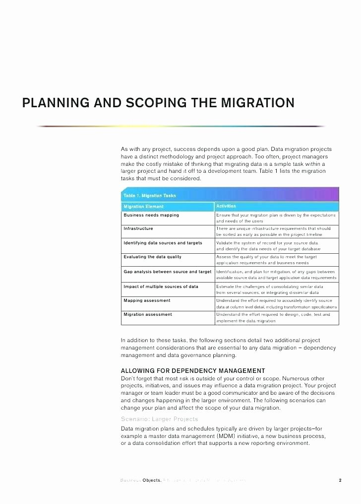 Data Migration Project Plan Template Awesome It Fice Relocation Planning Template Templates C Example