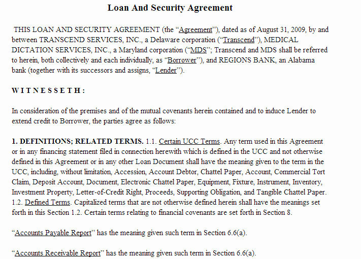 Data Security Agreement Template Awesome Loan and Security Agreement Template Addendum to Contract